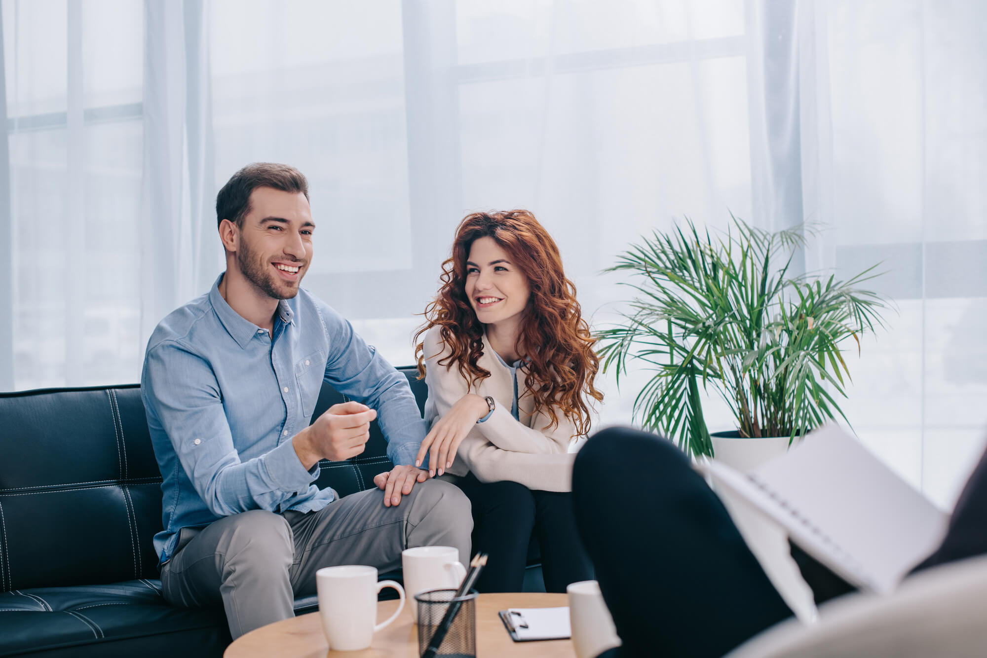 Online couple therapy talking
