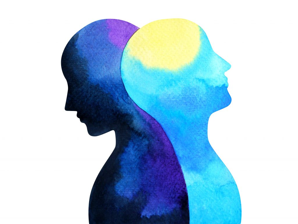 How to help someone with bipolar disorder depicted in a watercolor painting